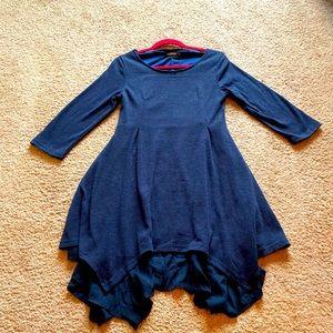 Reborn Navy Dress with Vintage Ruffles